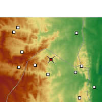 Nearby Forecast Locations - Mayiwane - Carte